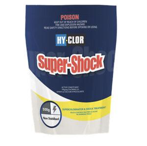 Hy-Clor 500g Super Shock Granular Pool Chlorine Hy chlor