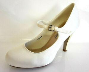 Anne Michelle L2R994 Ladies Court Ivory Wedding,Bridesmaid,Prom Shoes (R12B)