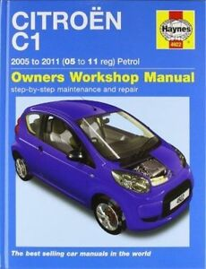 Haynes 4922 Manual for Citroen C1 Petrol 2005-2011