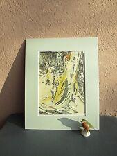 vintage illustration of Velveteen Rabbit in woods.1975