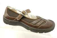 Keen Brown Leather Floral Mary Jane Casual Comfort Loafers Shoes Women's 6.5