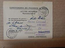 WW1 prisoner.of war postcard Heinz Conrad Manz ! camp posted 1916 .