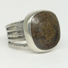 Silpada R1738 Bronzite Statement Multi Row Sterling Silver Ring 15.7g Size 7.5
