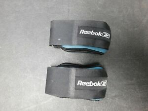 Pair of Reebok fitness ankle weights 1.5lb each turquoise/ blue exercise