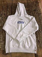 Supreme Grey box logo hoodie bandana large 100% Legit