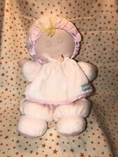 Vintage Eden Soft Plush Stuffed Pink Baby Girl Doll Toy Some Stains