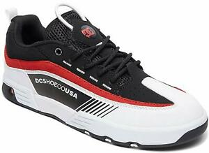 DC Men's Legacy 98 Slim Skateboarding Skate Shoes - Black/White/Red