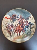 War Party by Frank McCarthy from The Fierce & the Free Collector Plate Hamilton