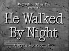 HE WALKED BY NIGHT, 1948, Richard Basehart, classic 'Film Noir': DVD-R Region 2