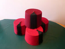 Fez (4 hats), Red, Middle Eastern, Used.