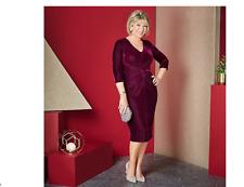 Ruth Langsford Stretch Velvet Dress Regular Purple Size 12 BNWT