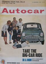 Autocar magazine 11/12/1964 featuring R.J.V. tuned B.M.C. 1100, Glas road test