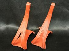 1 Pair Vintage Cat Eye Red Nylon Toe Clips Size TC - 110 - L Large 70 mm depth