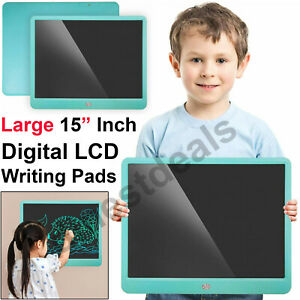 Large 15 Inch Electronic Digital LCD Writing Pad Tablet Drawing Doodle Board Kid