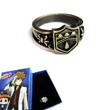 Vintage Anime Hitman Reborn Vongola Metal Finger Ring Cosplay Gift Rain Logo Box