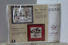 Creative Circle *Holly Tree Chickadees* Stamped Embroidery Kit  #2350 (1989)