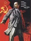 """Lenin Zhiv... Soviet Propaganda Poster 17x23.5"""" USSR Russian Revolution"""