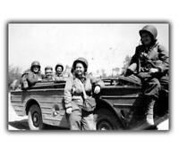 """WWII B&W Photo US Army Nurses woman on war ww2 Photo Glossy """"4 x 6"""" inch B"""