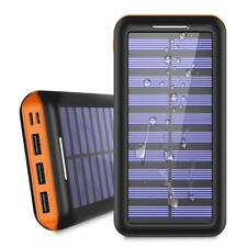 New Power Bank Solar Charger 24000 mAh Portable for iPhone Samsung LG Sony