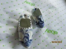 """DELFTS Holland shoe Ash Trays Vintage Collectable 4"""" and 3 1/2"""" Willow Blue"""
