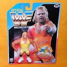 VINTAGE 1993 HASBRO GIG WWF WRESTLING SERIES 8 MR. PERFECT FIGURE MOC CARDED