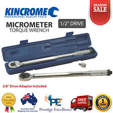 """Kincrome 1/2"""" Square Drive Micrometre Torque Wrench Reversible Ratchet Hand Tool"""
