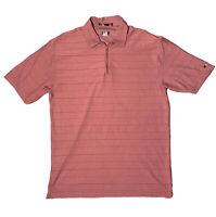 Nike Tiger Woods Platinum Dri-Fit Burnt Orange Golf Polo Shirt Mens Sz L