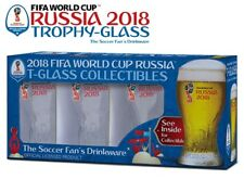 Set of 4 Russia 2018 Logos FIFA World Cup Trophy-glass Gift-Box -The Soccer Fan