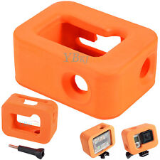 Orange Water Floating Float Floaty Soft Case Skin Housing for GoPro Hero 4 3+