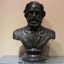Western Art Deco Bronze Copper & Marble Giuseppe Verdi Composer Sculpture Statue