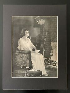 """Vintage 1930s """"Ghost Scene"""" Matted Print"""