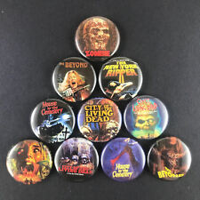 "Lucio Fulci 1"" Button Pin Italian Horror Director Zombie The Beyond Living Dead"