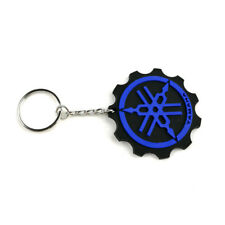 Motorcycle Rubber Keyring Keychain Key Chain Key Ring For Yamaha Gift Cool Blue