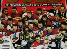 SIDNEY CROSBY SIGNED VANCOUVER 2010 WINTER OLYMPICS GOLD MAGAZINE CANADIAN GOLD