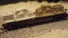 N-Scale 12 Unfinished Tarped Freight Car Loads Detail Parts
