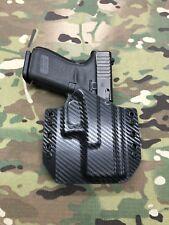 Black Carbon Fiber Kydex Holster for Glock 19 23 32