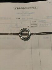 Chrome Hearts Scroll Band Pinky Ring size 5.5jp, 3.5us with Receipt Silver