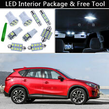 11PCS White LED Interior Car Lights Package kit Fit 2013-2015 Mazda CX-5 CX5 J1