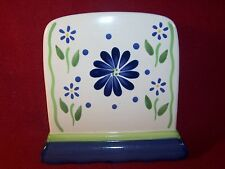 "Pfaltzgraff ~ Cloverhill ~ Large Blue Floral Napkin Holder 6 3/4"" Tall"