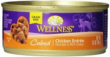 Wellness  Cubed Chicken Entree Canned Cat Food, 5.5-Ounce, Pack of 24 , New, Fre