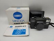 Minolta Hi-Matic AF2 35mm Film Camera F2.8 38mm w/ Box - Working, Excellent NMIB