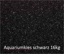 Aquarienkies schwarz 16kg 1-3 Quarzkies Zierkies Bodengrund kunststoffummantelt