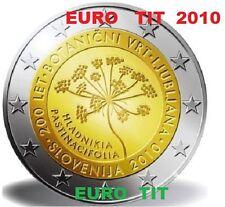 2 € SLOVENIE COMMEMORATIVE  2010    1  X  PIECE   JARDIN BOTANIQUE    disponible