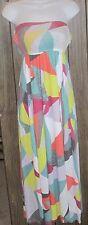 Seneca Rising juniors size XS PacSun colorful Strapless Maxi Dress j150