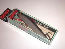 RAPALA VINTAGE ORIGINAL FLOATING F-9 F S / IN SILVER COLOR W/GOLD HOOK RINGS