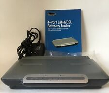 Belkin F5D5231-4 4-Port 10/100 Wired Router With Manual