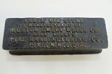 Vintage Pike Mfg Co NH, Oil Sharpening Stone, Cast Iron