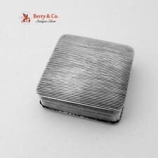 Antique Textured Pill Box Dutch 830 Silver 1836