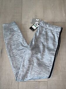 Girl's Youth NWT Under Armour Cold Gear Pants - Size Large - Gray/Black Stripes