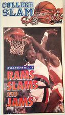 College Slam Basketball's Rams Slams & Jams (Best Buy) 1993 VHS Tape Video -New